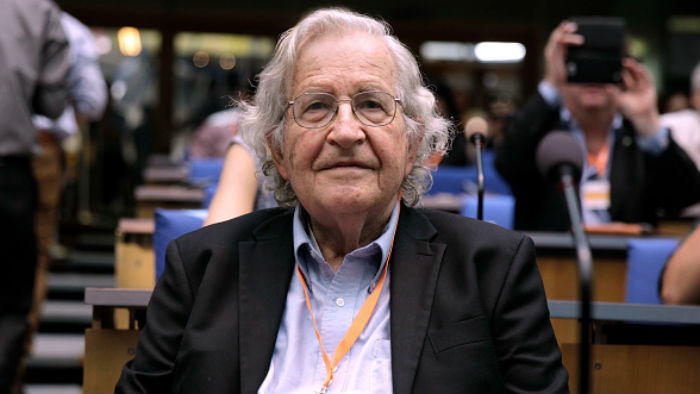 Professor Noam Chomsky At A Conference In Bonn On June 17 2013