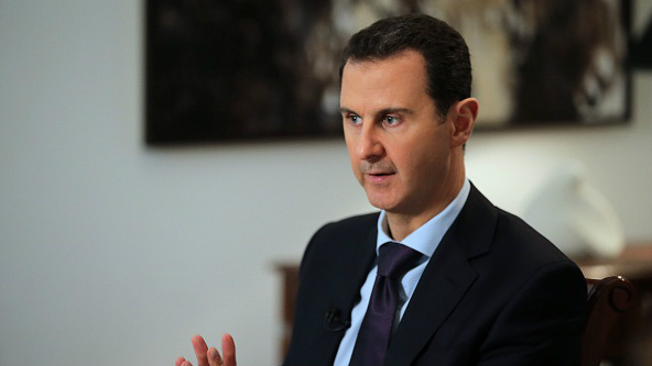 Syrian President Bashar al-Assad, here seen during an exclusive interview with AFP on February 11, 2016, has vowed to retake all of Syria.