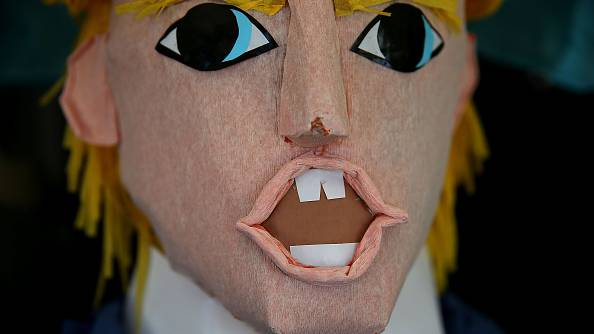 Donald Trump pinatas are popular in Mexico - and also in San Francisco's Mission District where this one is for sale.