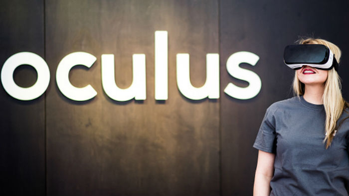 timeless design 333f2 0327c A woman wears the Oculus Rift headset in Berlin, Germany, on February 24,