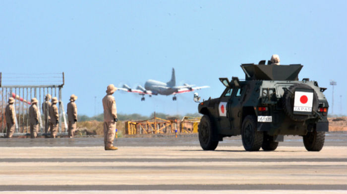 Japan's only overseas military presence is in Djibouti, where it maintains a maritime presence as part of anti-piracy efforts
