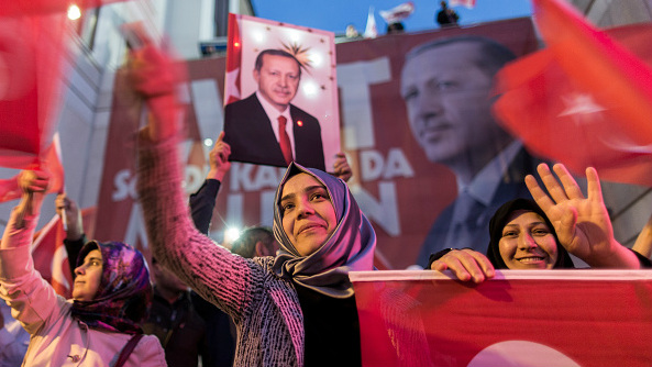 Recep Tayyip Erdogan has attacked democracy in Turkey but remains popular with around half the country