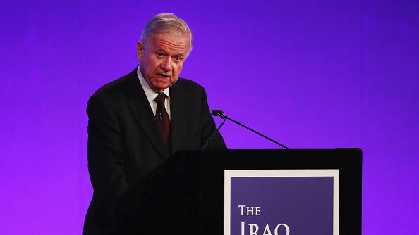 Sir John Chilcot presented the Iraq Inquiry Report at the Queen Elizabeth II Centre in Westminster on July 6, 2016