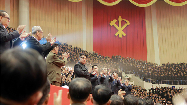 Kim Jong-Un attends a party conference in Pyongyang, December 28, 2016