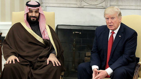 Mohammed bin Salman (L) and Donald Trump (R) both have not hidden their opposition to the Iran nuclear deal