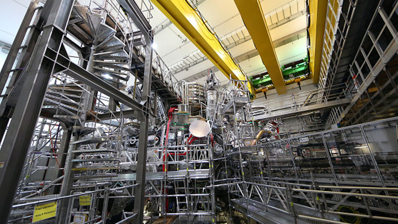 The interior of the new Wendelstein 7-X nuclear fusion reactor on February 3, 2016 in Greifswald, Germany
